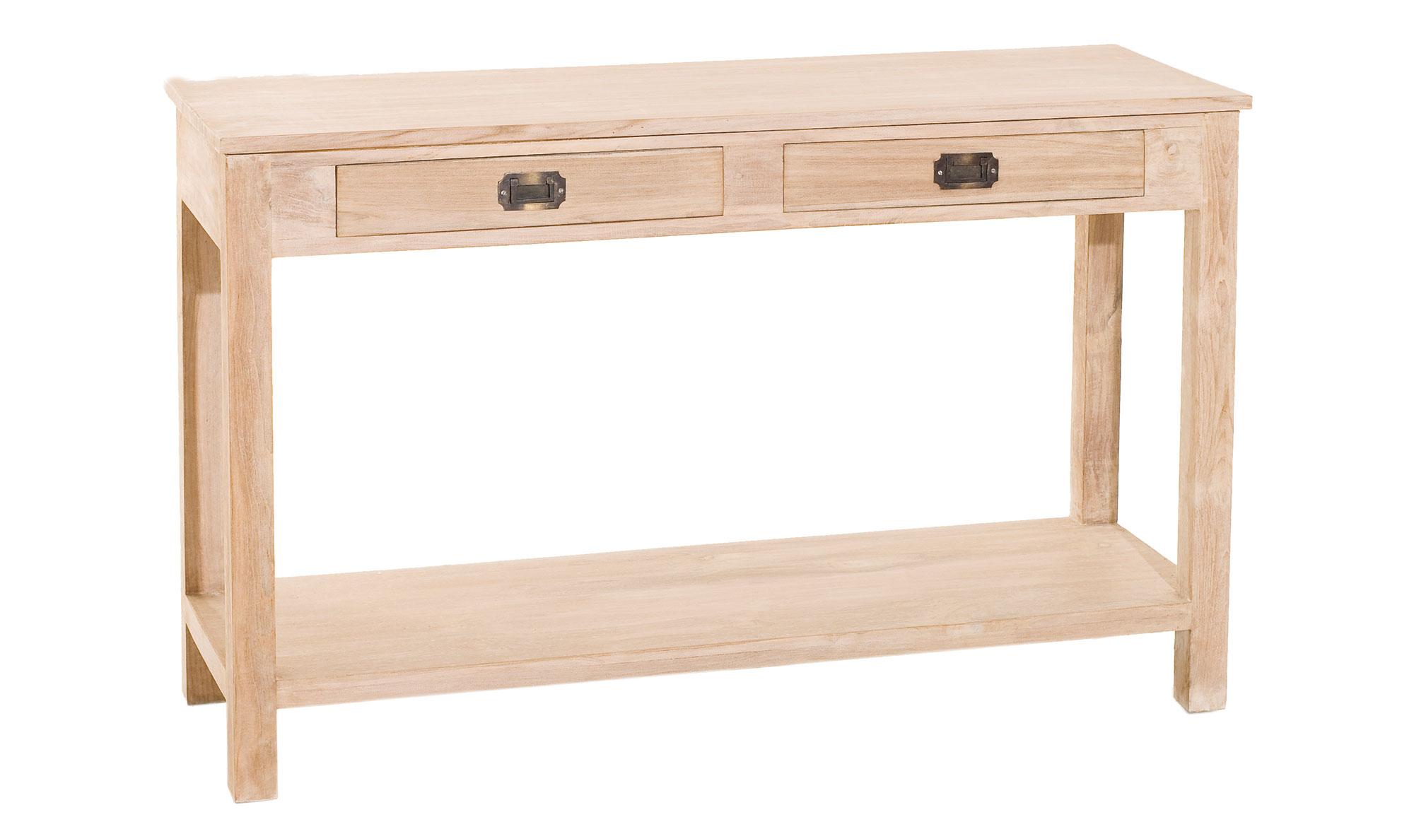 Consola 1 estante colonial madera lavada disponibles en nuestra web