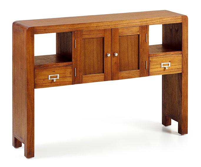 Consola 2 cajones colonial flash en cosas de for Portobello muebles coloniales