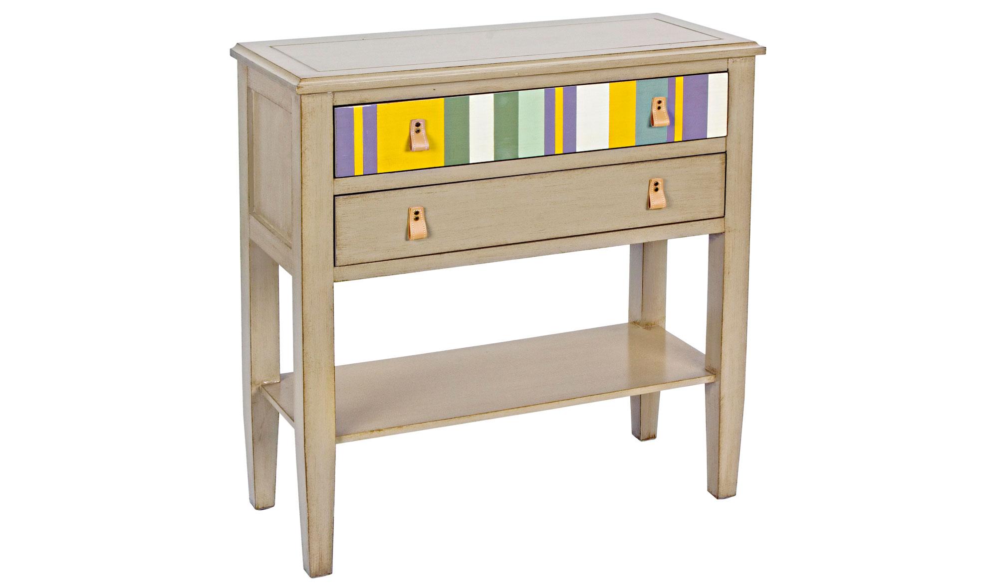Consola 2 cajones rayas vintage varenna en - Consolas muebles ...