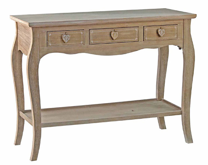 Consola 3 cajones vintage gisele no disponible en for Consolas antiguas muebles