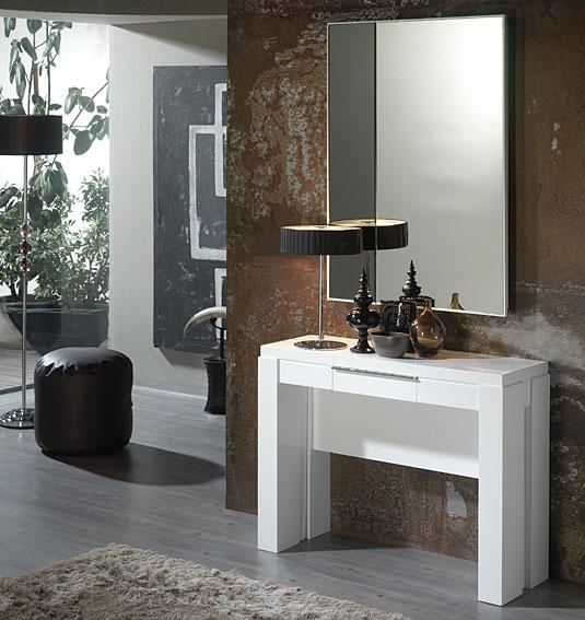 Consola mesa de comedor extensible moderna dirfon en cosas for Muebles de comedor mesas