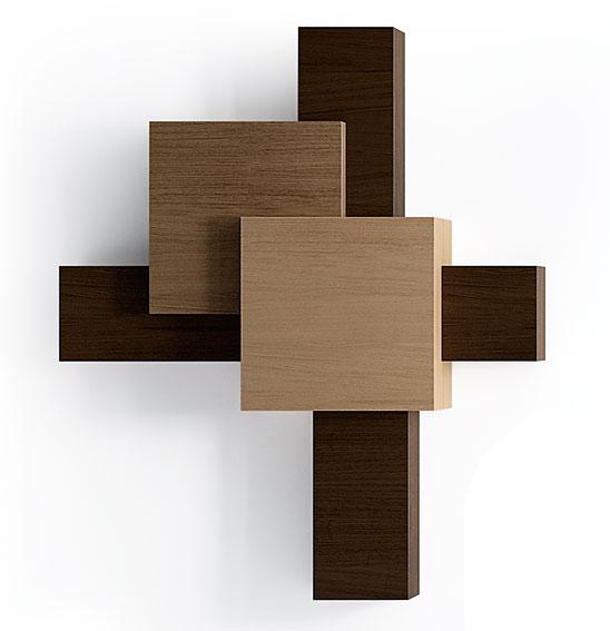 Contenedor 6 puertas moderno cubista en for Muebles de despacho modernos