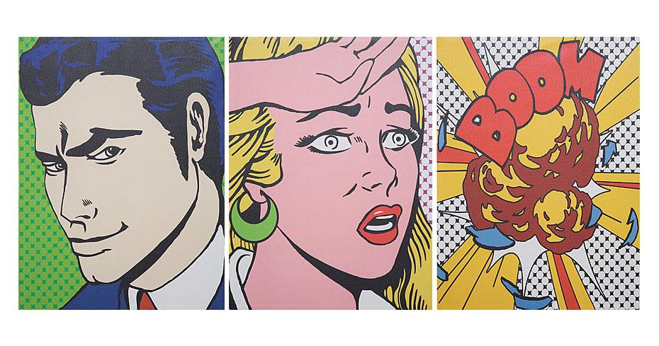 Cuadro comic joyce no disponible en - Cuadros pop art comic ...
