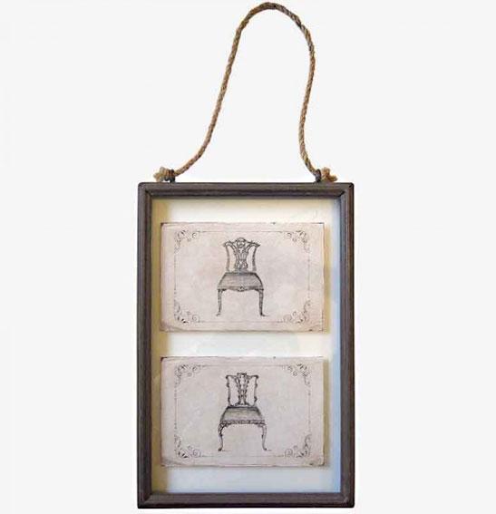 Cuadro de pared 2 sillas vintage no disponible en - Cuadro para pared ...