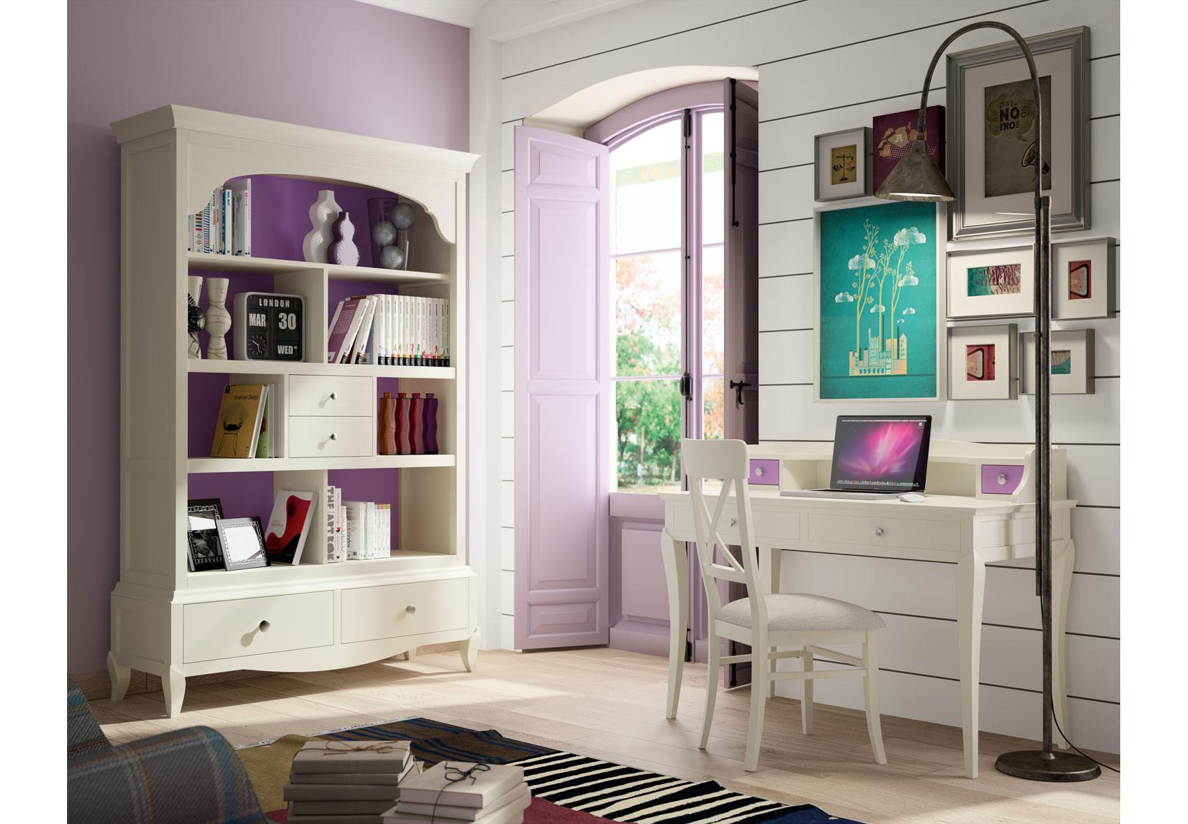 Despacho vintage provenzal lila basilea en for Muebles de oficina vintage