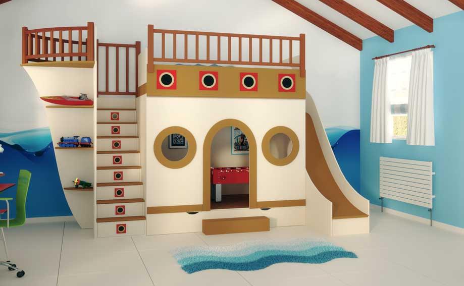 Dormitorio barco pirata i en for Muebles de dormitorio infantil
