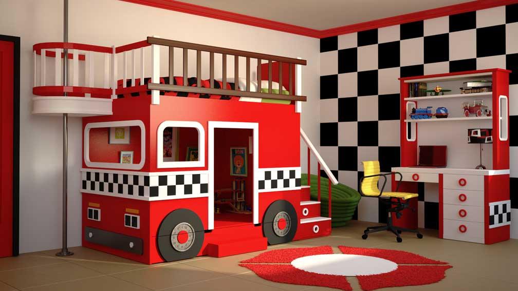 Dormitorio bomberos en cosas de arquitectoscosas de for Cuartos de ninos infantiles