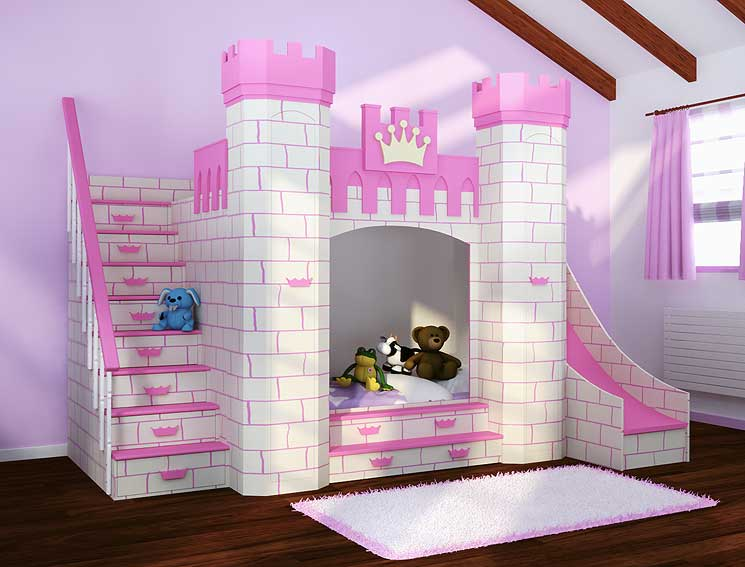 Dormitorio castillo princesas en for Muebles de princesas