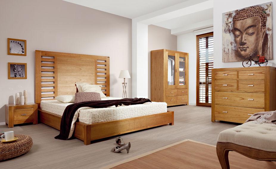 Dormitorio colonial natural no disponible en for Natura muebles