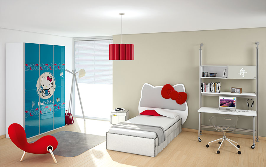 Dormitorio hello kitty city no disponible en - Baul para dormitorio ...