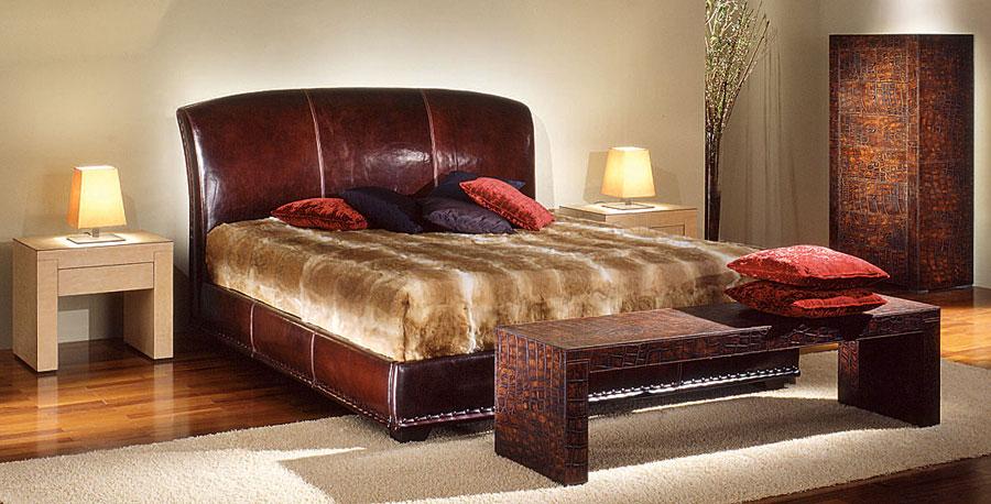 Dormitorio vintage de piel giove en for Muebles dormitorio vintage
