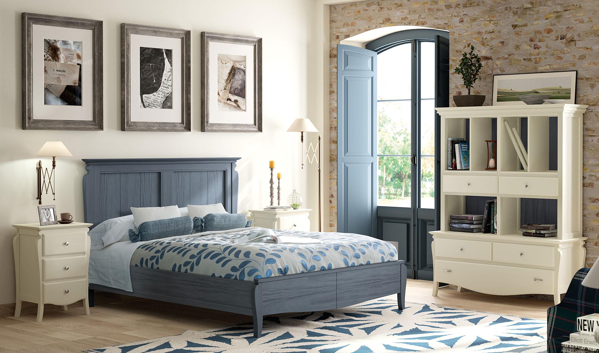 Dormitorio provenzal mediterr neo de lujo en - Muebles de dormitorio blancos ...
