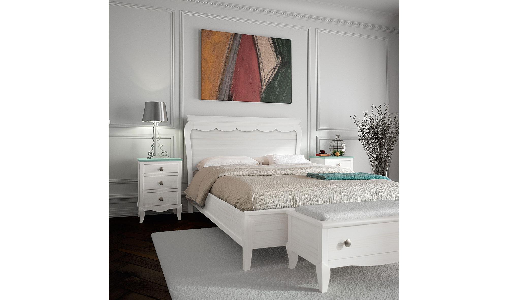 Dormitorio provenzal verde agua basilea en cosas de for Dormitorios verde agua