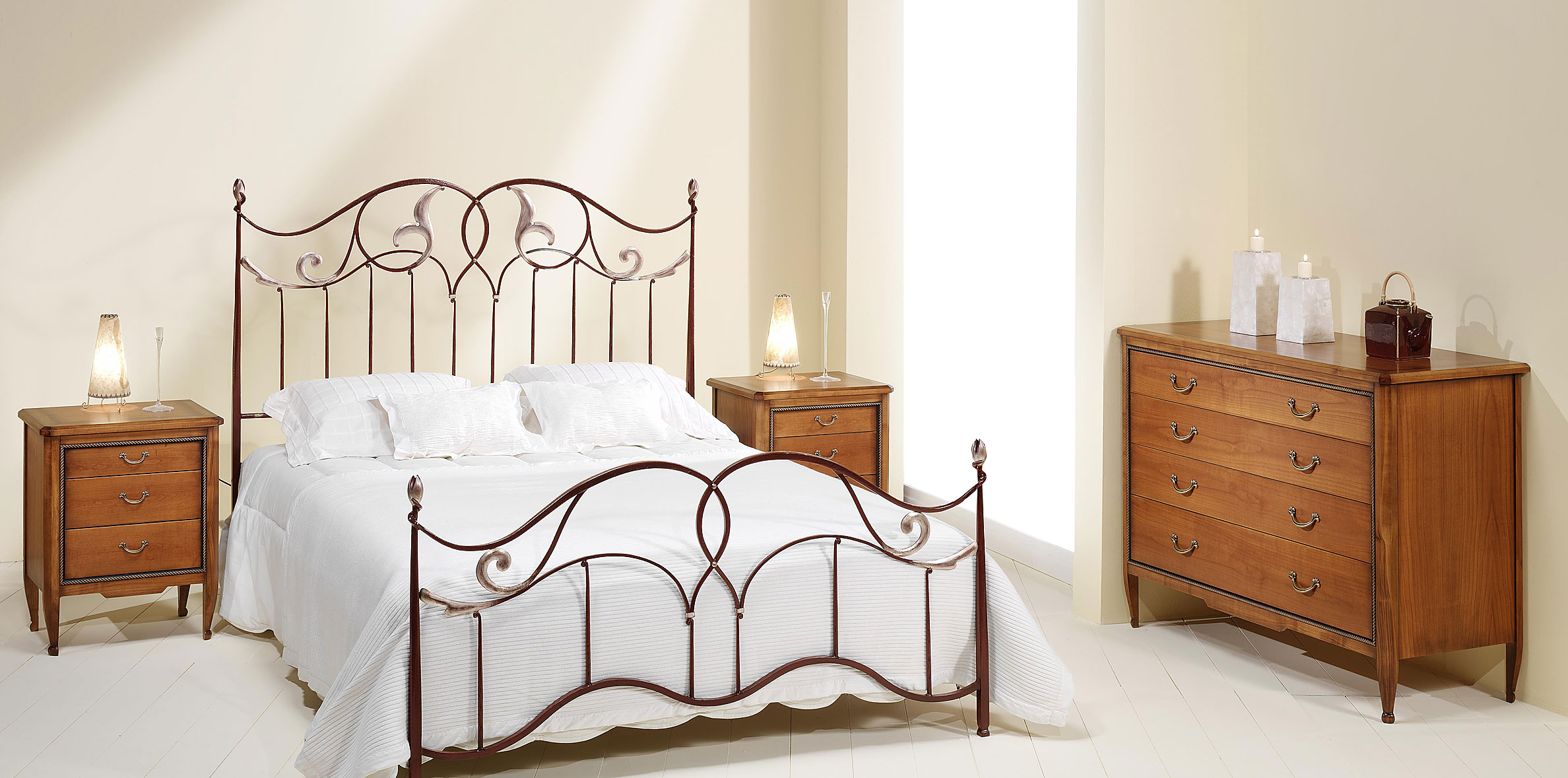 Dormitorio forja caroli en - Muebles en forja ...