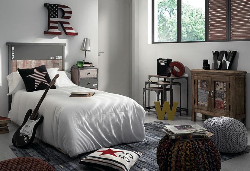 Dormitorio industrial erutna no disponible en for Muebles dormitorio vintage