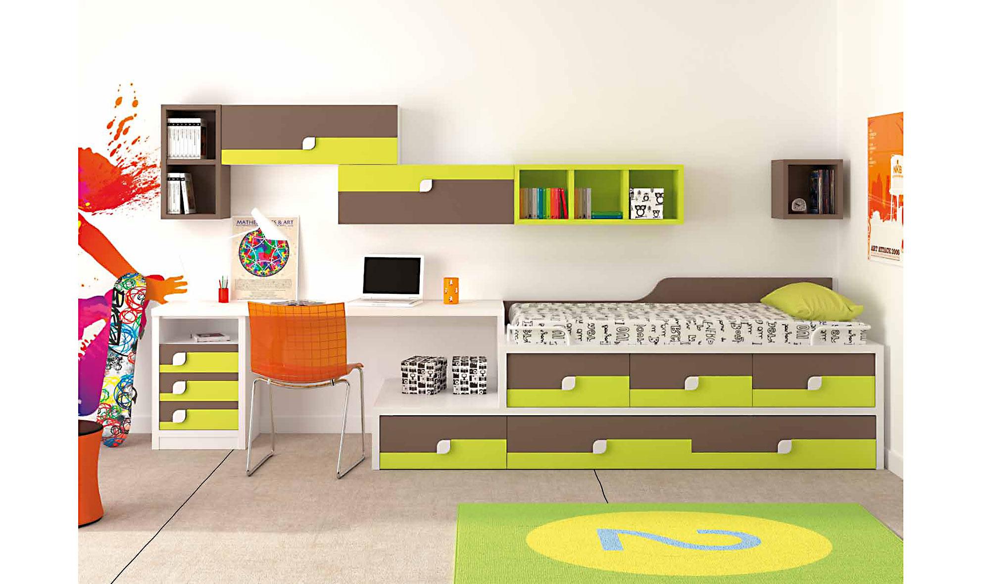 Dormitorio infantil luz de lujo en for Catalogo muebles infantiles