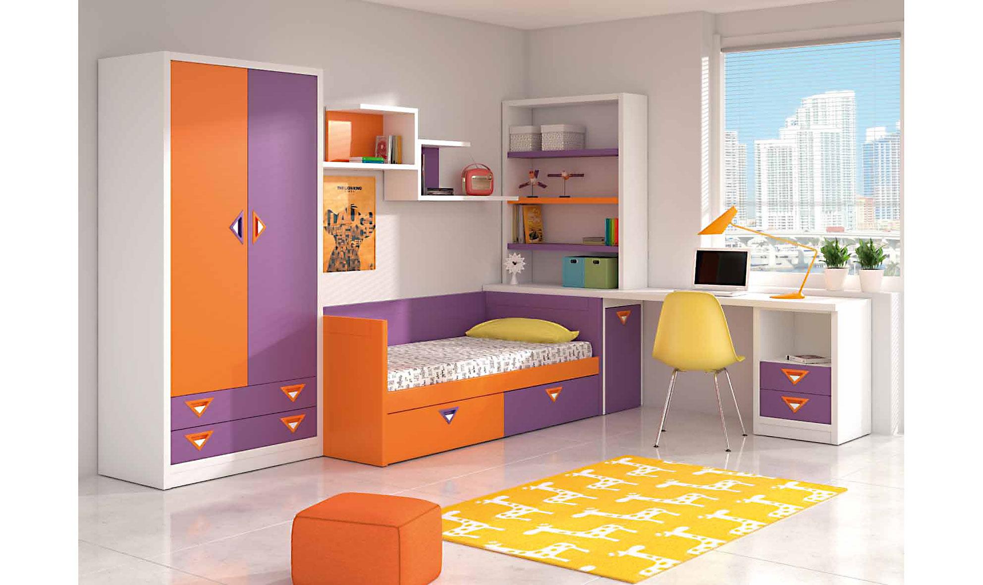 Dormitorio infantil janet en for Muebles y dormitorios