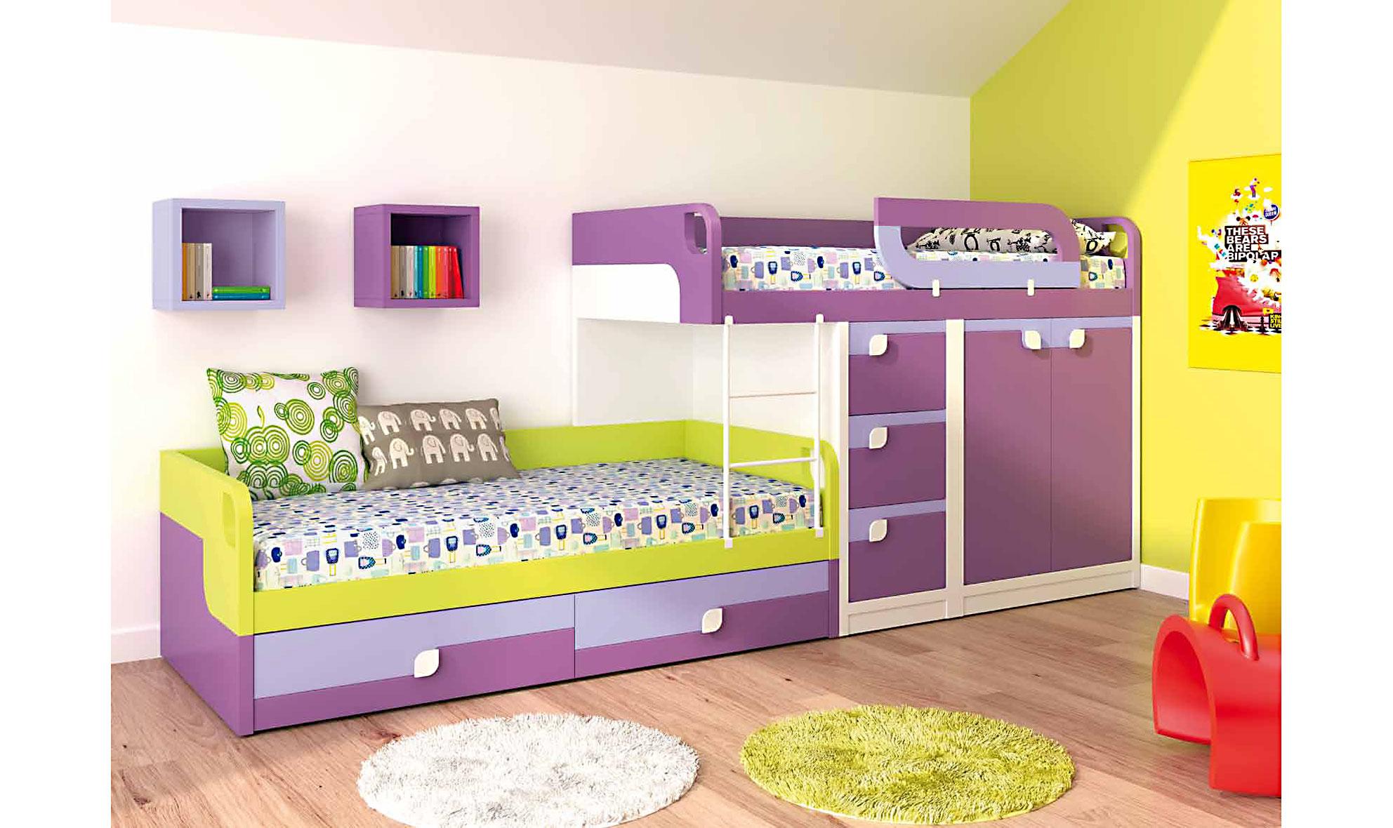 Dormitorio juvenil isabel en for Muebles y dormitorios