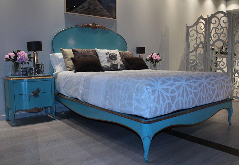 Cama turquesa vintage gala no disponible en for Muebles dormitorio vintage
