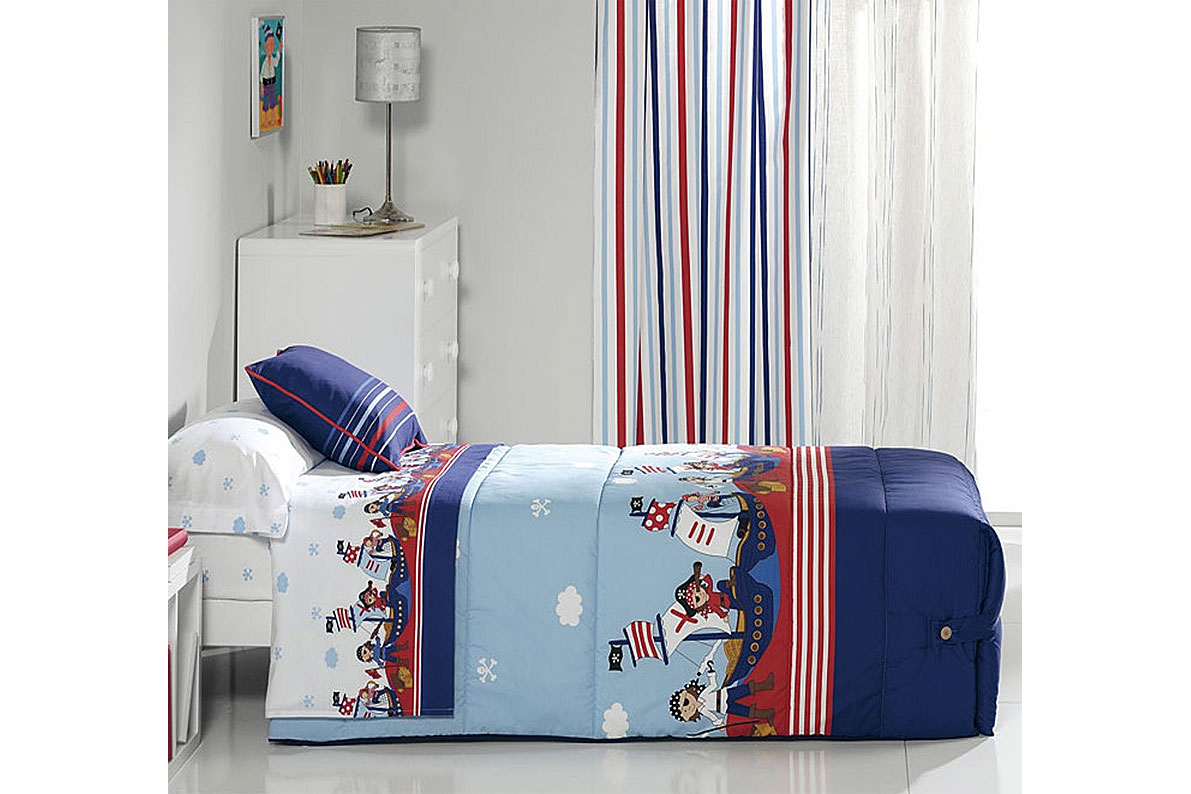 Edredón ajustable estampado piratas para cama de 90 o 105 en ...