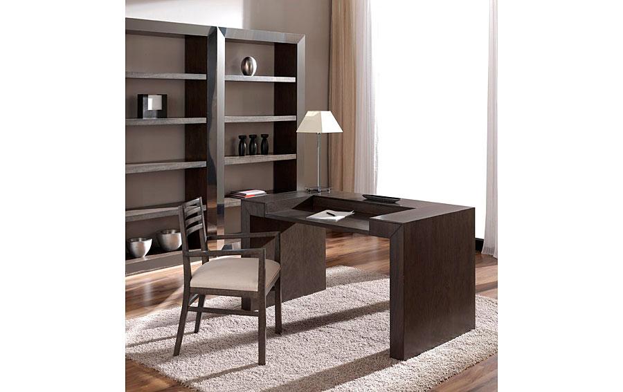 Escritorio madera moderno kufri en cosas de for Diseno de muebles de madera modernos