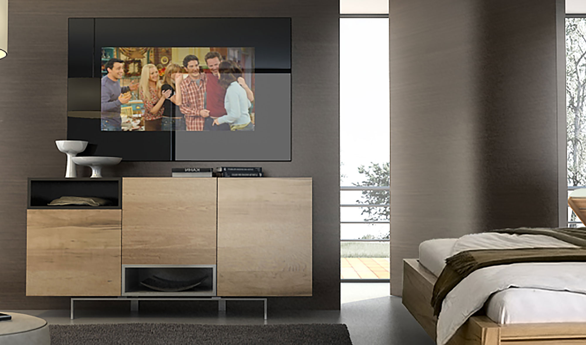 Espejo tv compacto de lujo en tu - Muebles de espejo ...