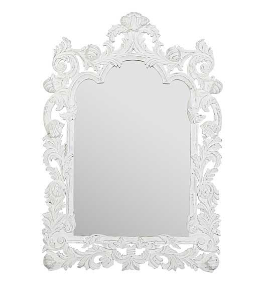 Espejo blanco leman no disponible en for Espejo grande blanco