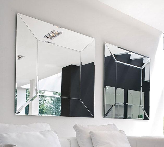 Espejo moderno cuadrado costantia tonin casa en cosas de - Espejos de diseno moderno ...