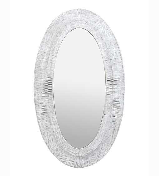 Espejo ovalado kanas no disponible en for Espejo ovalado blanco