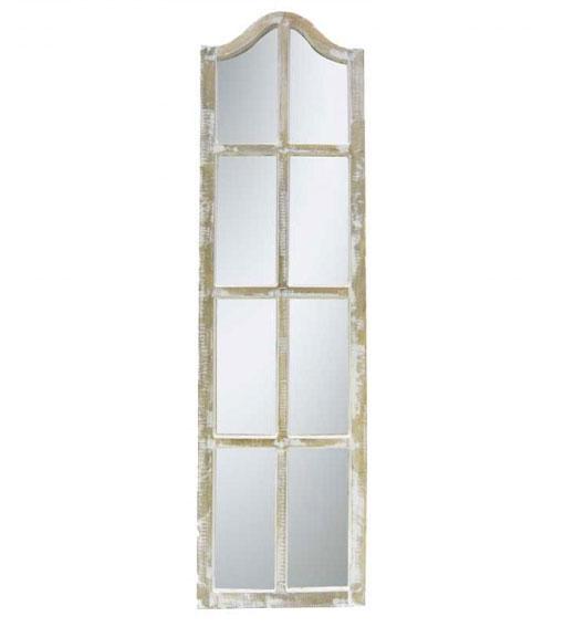 Espejo estrecho blanco joli no disponible en for Espejos estrechos