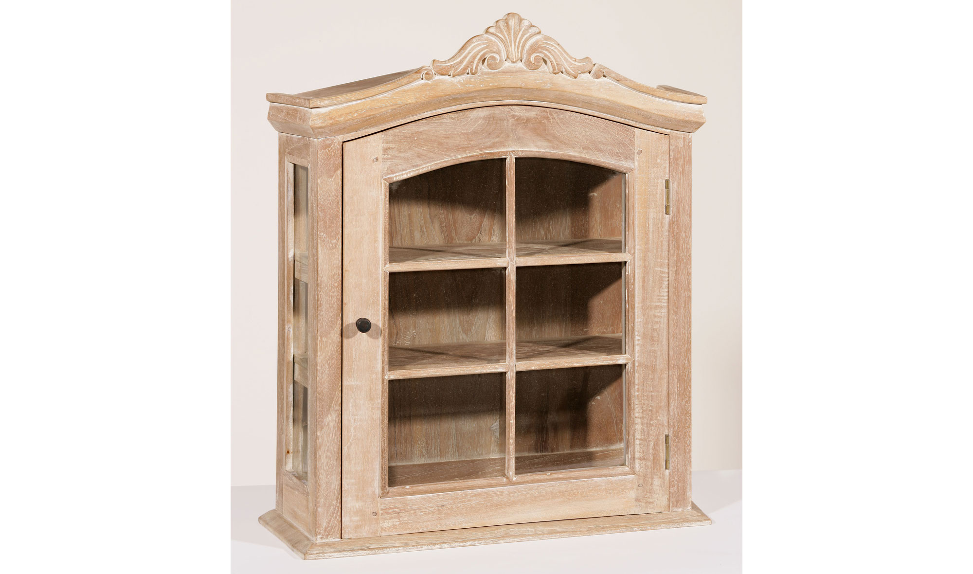 Estantería 1 puerta colonial madera lavada disponibles en nuestra web