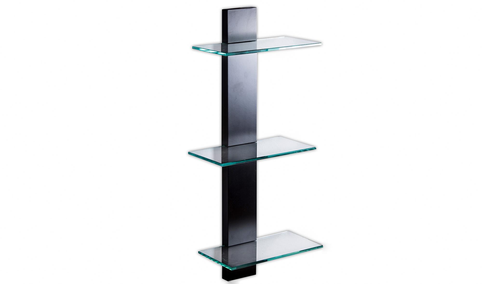 Estantera negra con cristal 3 estantes en Portobellostreetes
