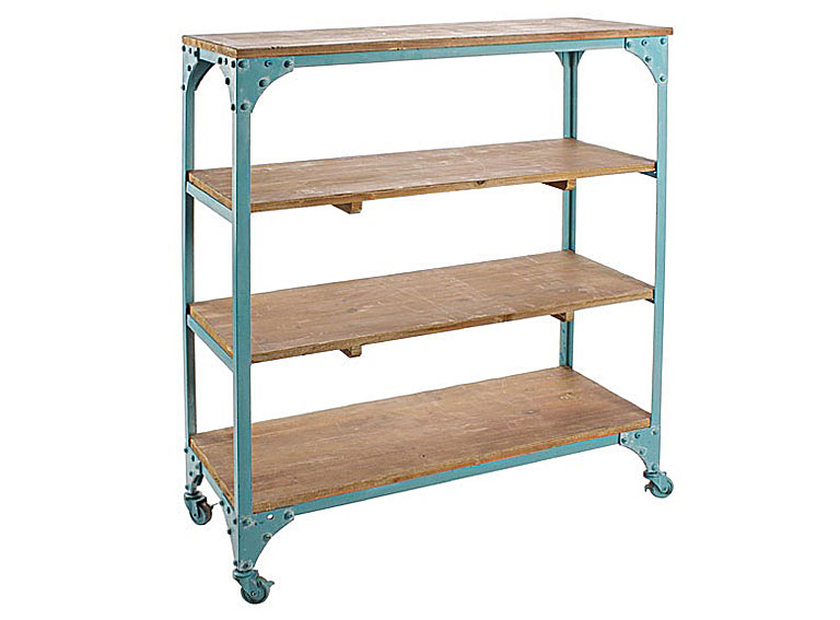 Mueble Baño Azul Turquesa:Estantería vintage Gustavo azul turquesa