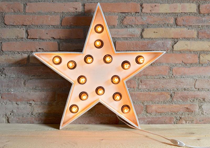 Plafón Estrella luminosa