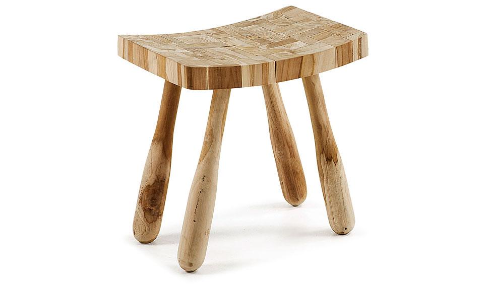 Taburete flame en madera de teca reciclada no disponible - Muebles madera teca ...