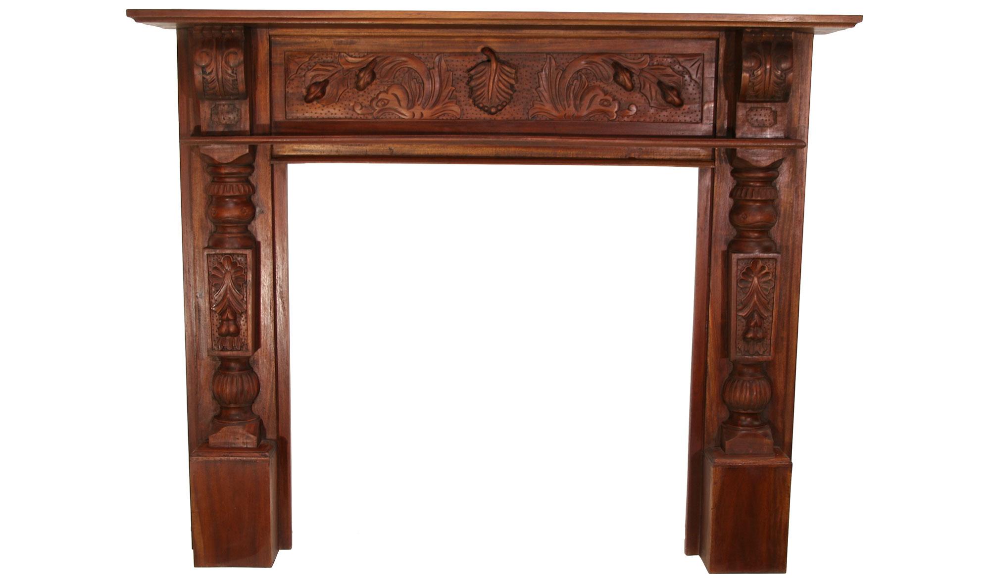 Camas de madera tallada related keywords camas de madera - Muebles de chimenea ...