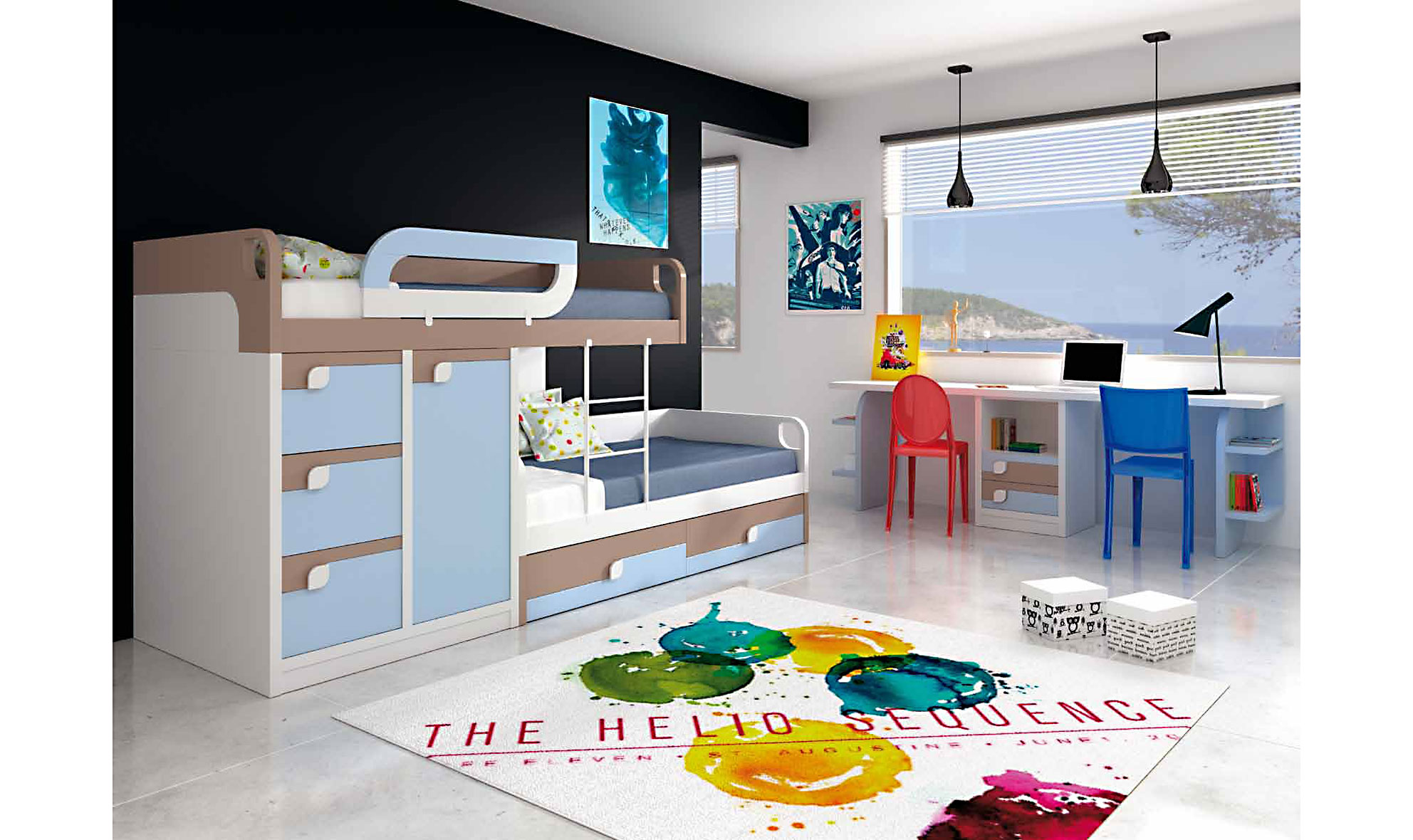 Habitacion juvenil dany en cosas de arquitectoscosas de for Muebles de cuartos infantiles