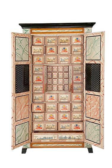 Replica mueble farmacia en for Muebles japoneses antiguos