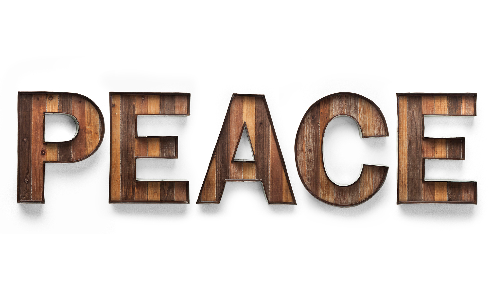 letras decorativas de pared peace