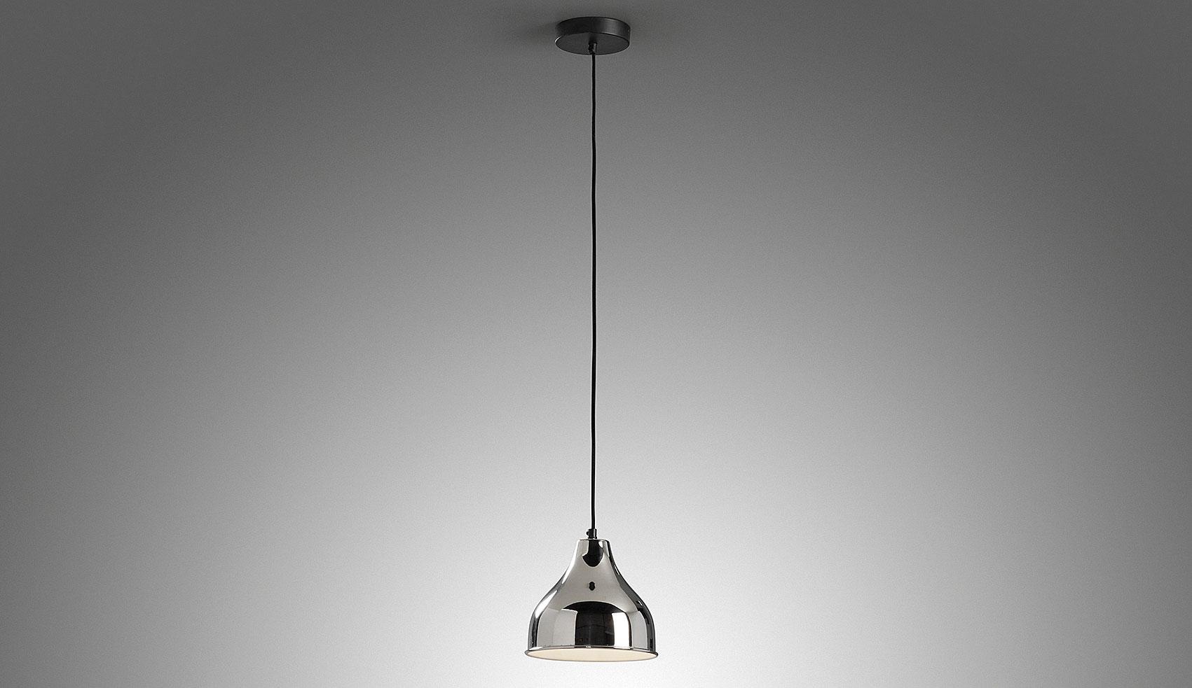 Lámpara de techo metal plata