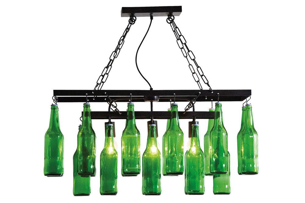 Lu00e1mpara de techo Botellas Cerveza en COSAS de ARQUITECTOSCosas de ...