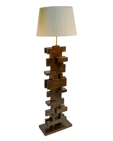 L mpara de pie madera irregular no disponible en - Lampara de pie madera ...