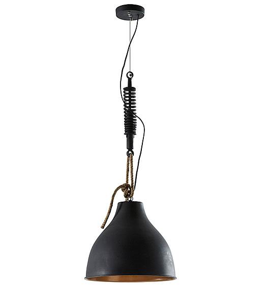Lámpara de techo negra Sadie