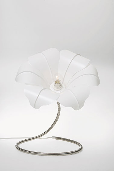 L�mpara de mesa Flor Blanco