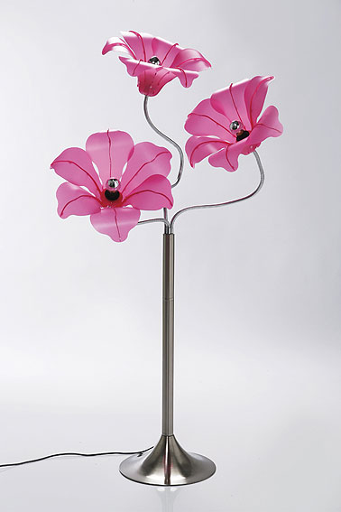 L mpara de pie flores rosas no disponible en for Muebles rosas