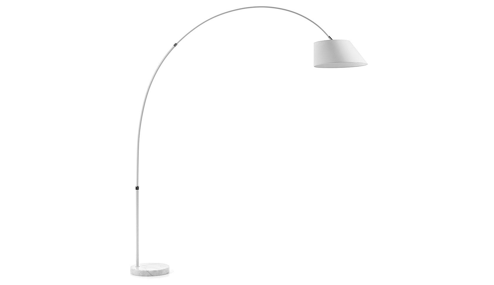 Lámpara de pie Pértiga blanca