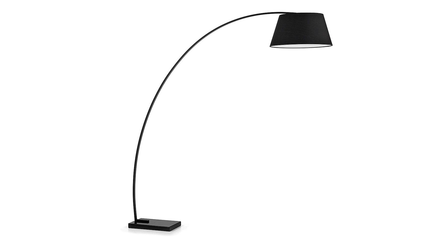 Lámpara de pie Juhe negra