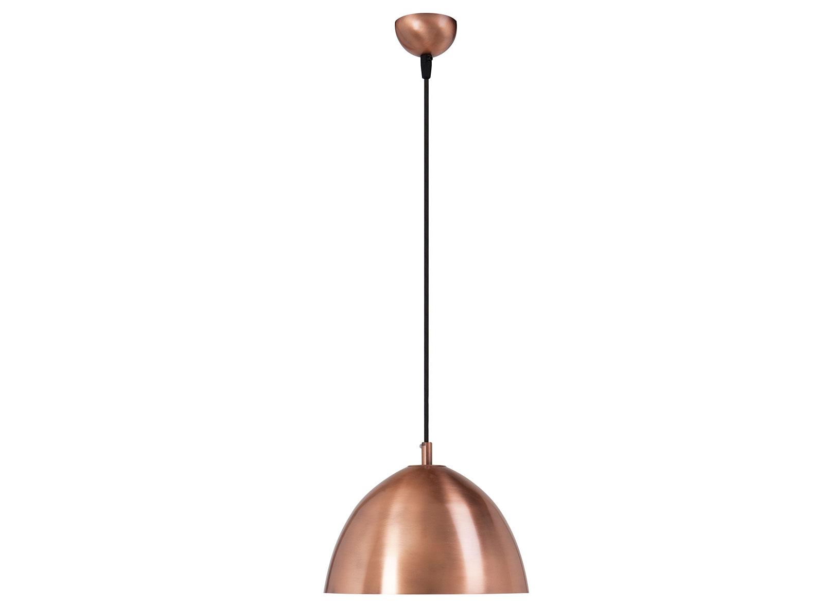 Lámpara de techo curva cobre