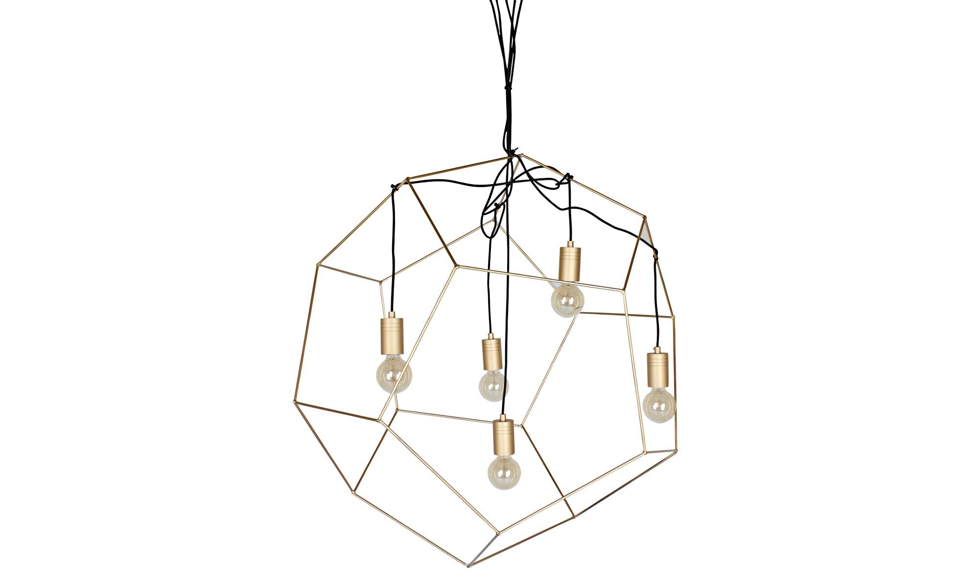 L mpara de techo dodecaedro dorada grande no disponible en for Lampara techo grande