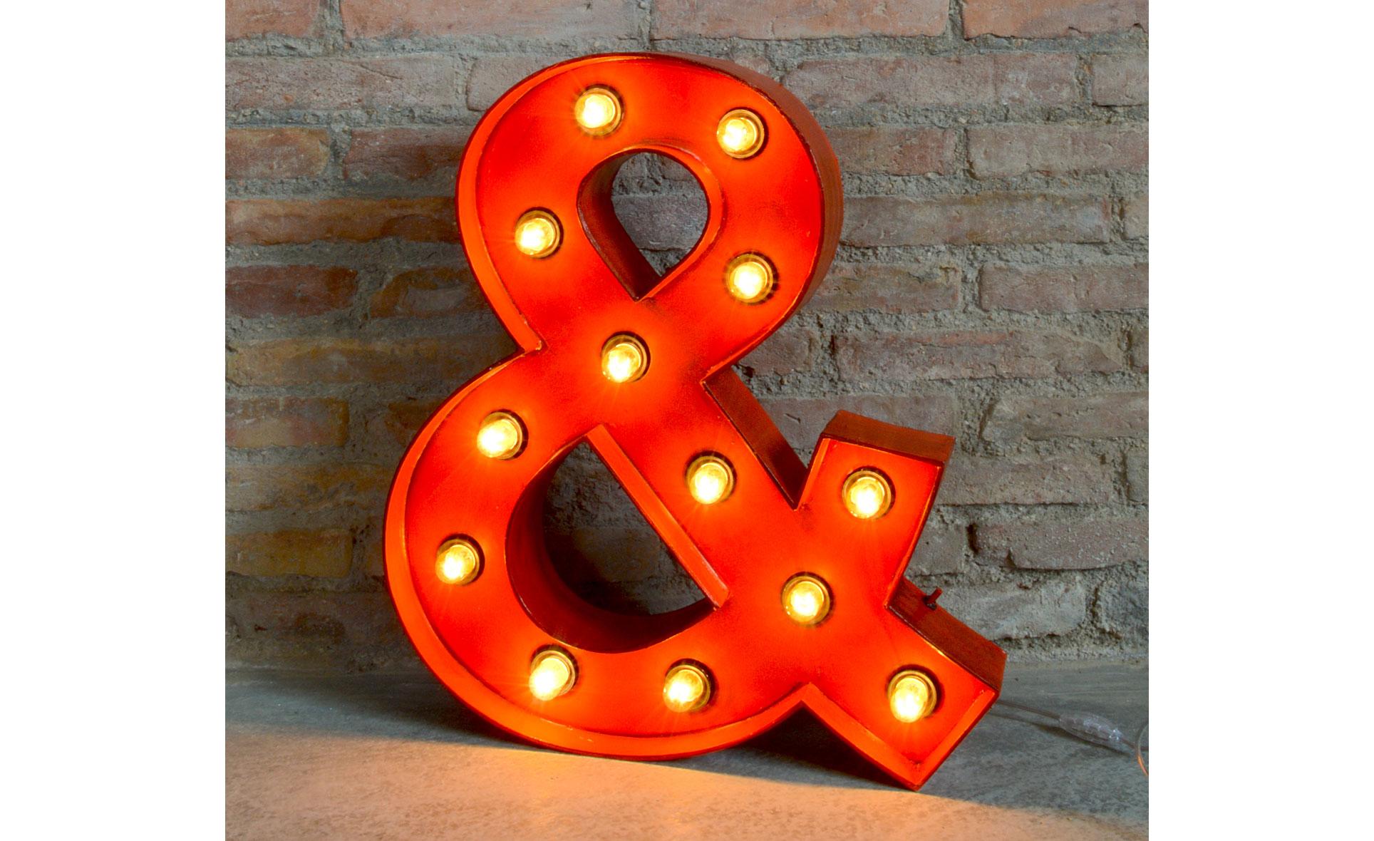 Símbolo vintage luminoso Ampersand
